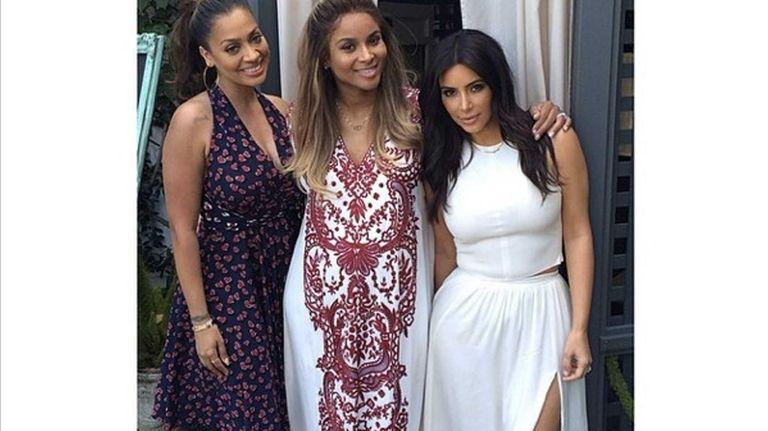 La La Anthony, Ciara and Kim Kardashian at