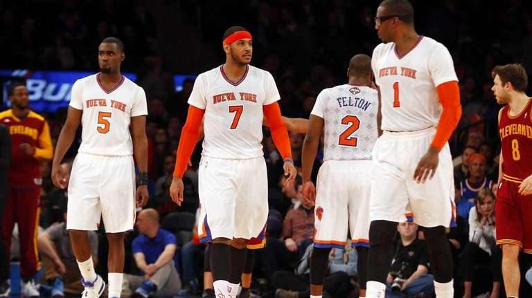 Amar'e Stoudemire, Carmelo Anthony, Tim Hardaway Jr. and