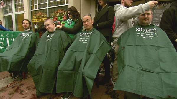This year's St. Baldrick's fundraiser was held to