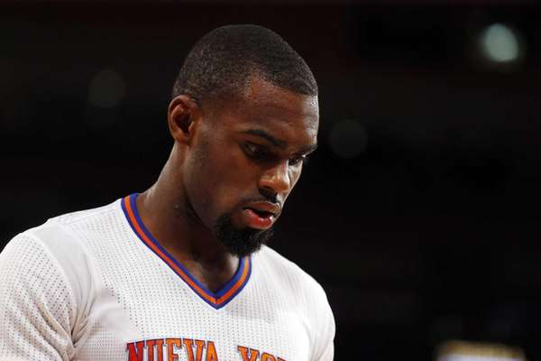 Tim Hardaway Jr. looks on during a game