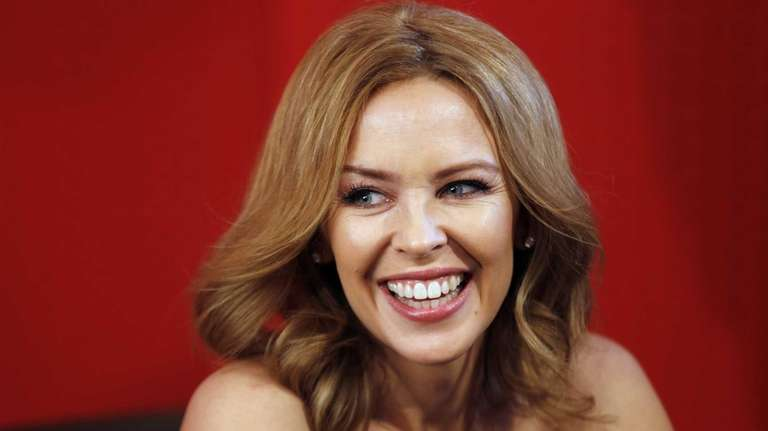 Kylie Minogue during a dedication session on March