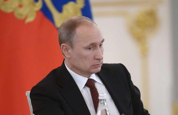 Russian President Vladimir Putin chairs a government meeting
