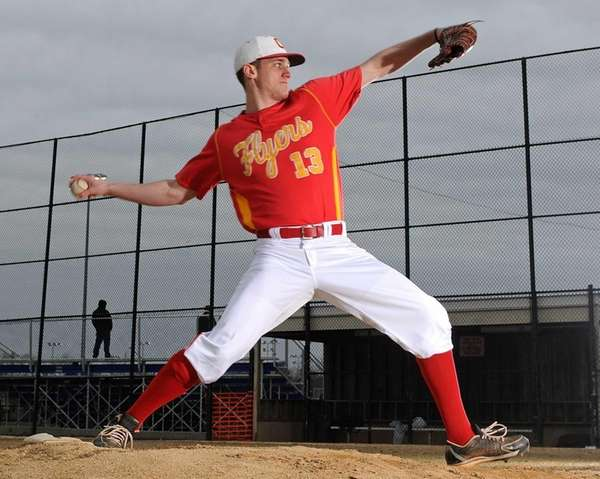 Chaminade pitcher Brendan Spagnuolo poses for a portrait