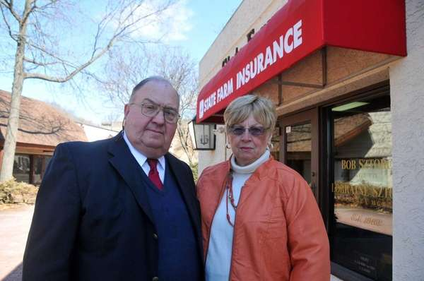 Robert and Lorraine Sztorc stand outside the State