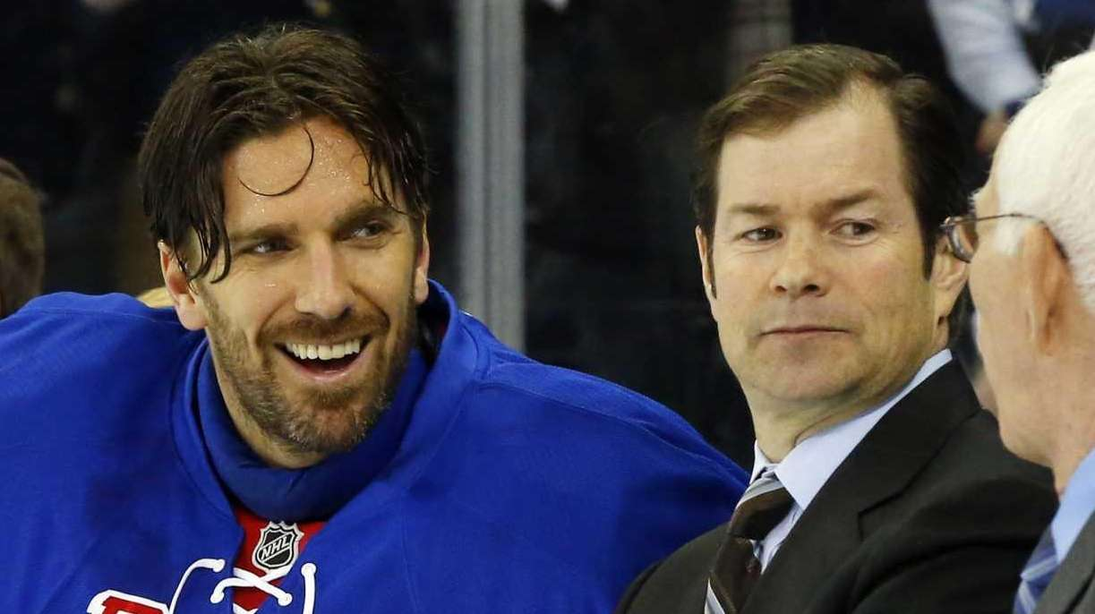 Henrik Lundqvist (30) of the New York Rangers