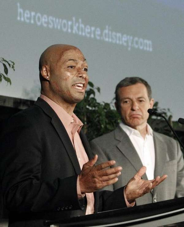 J.R. Martinez, left, seen on May 22, 2012,