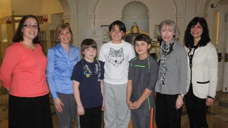 From left, Locust Valley Intermediate's Assistant Principal Amy