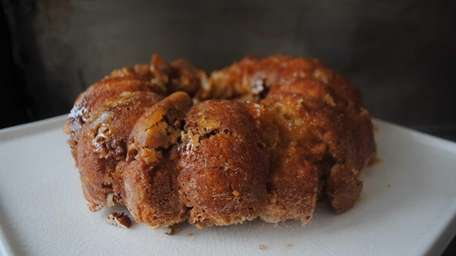 Monkey bread is a pull-apart cake made with