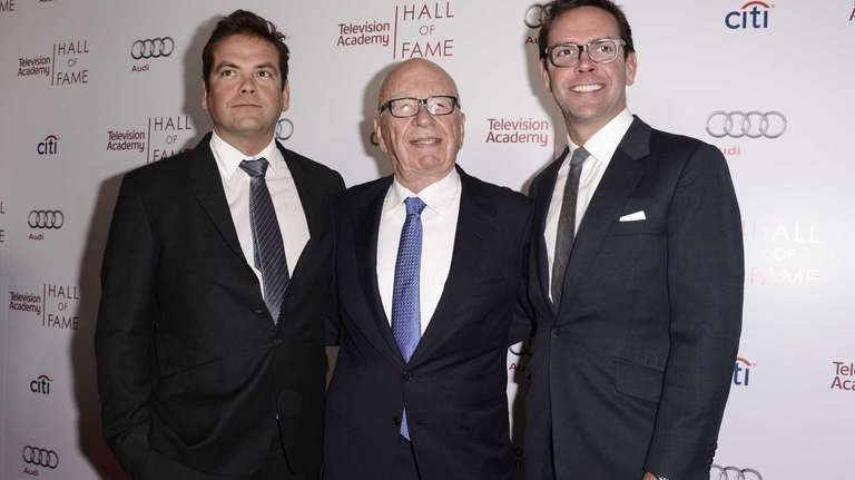 From left to right, businessman Lachlan Murdoch, News
