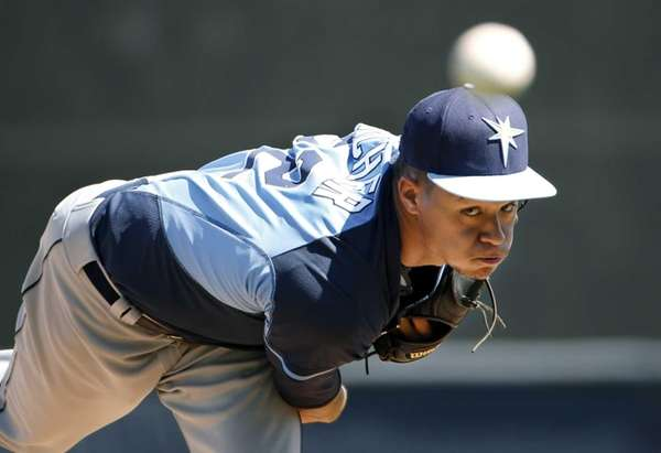 Tampa Bay Rays starter Chris Archer follows through