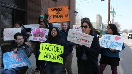 Student advocates and their allies, on Wednesday, March