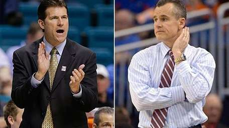 UCLA coach Steve Alford and Florida coach Billy