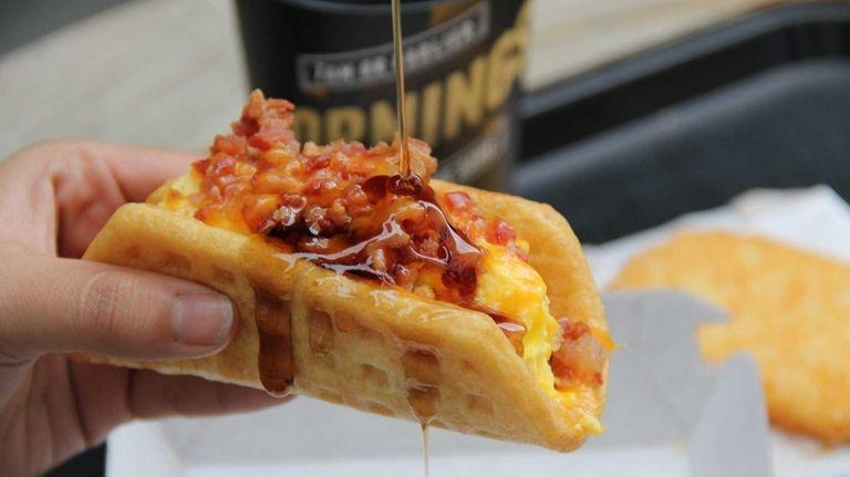 Taco Bell's new waffle taco