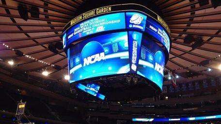 Inside Madison Square Garden for media availability prior