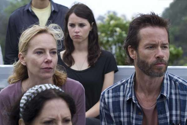 Amy Ryan, Felicity Jones and Guy Pearce in