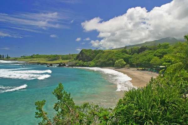 Hamoa Beach in Maui, Hawaii.