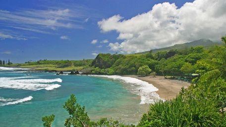 Hamoa Beach in Maui, Hawaii.
