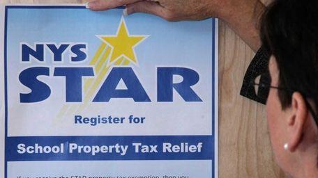 Tax breaks under the state STAR program average