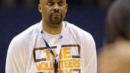 Tennessee head coach Cuonzo Martin watches his team