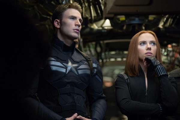 Black Widow/Natasha Romanoff (Scarlett Johansson) and Captain America/Steve