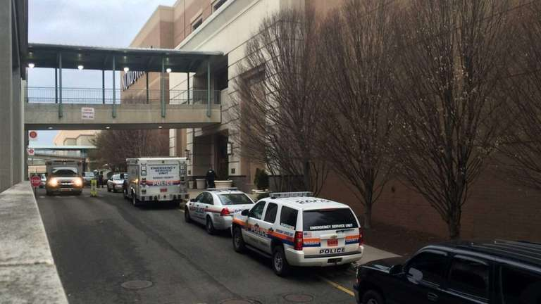 Emergency personnel respond to a bomb threat called