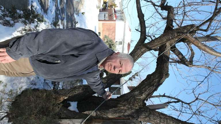 Allan Johanson is concerned about a utility pole