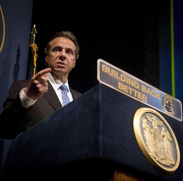 Gov. Andrew M. Cuomo and leaders in Albany