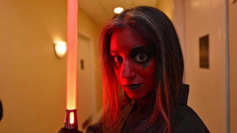 Adrienne Lombardo, 20, of Brooklyn, dressed as Darth
