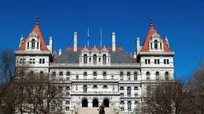 The State Capitol building is pictured in Albany
