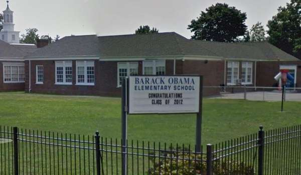 The Barack Obama Elementary School in Hempstead in