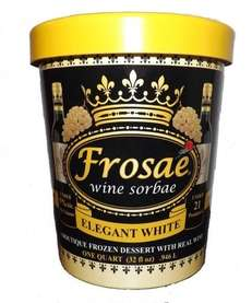 Frosae Wine Sorbae is a line of sorbets