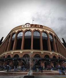 An exterior view of Citi Field at the