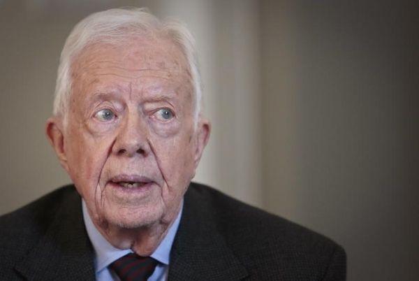 Former U.S. President Jimmy Carter speaks during an