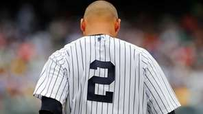 Derek Jeter looks on against during a game