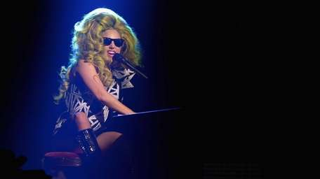 Lady Gaga performs on Monday, March 31, 2014