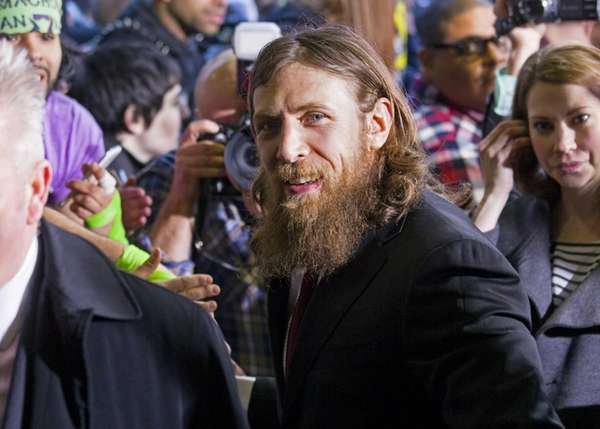 WWE star Daniel Bryan arrives at the Hard