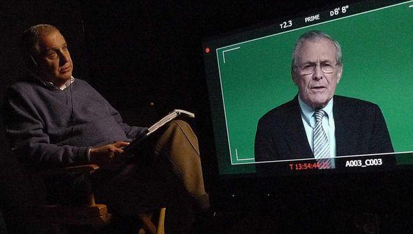 Errol Morris interviews Donald Rumsfeld in