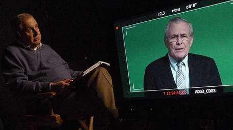 Errol Morris interviews Donald Rumsfeld in