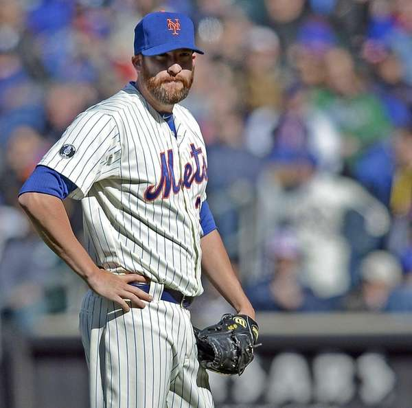 Bobby Parnell looks on from the mound in