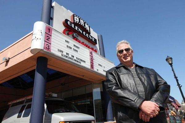 Jay Levinson, owner of Glen Cove Cinemas, outside