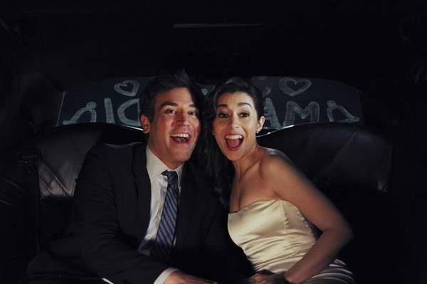Josh Radnor as Ted, and Cristin Milioti as