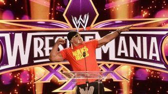 Hulk Hogan attends the WrestleMania 30 press conference