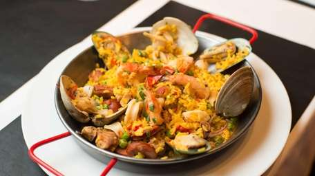 Paella alla Valenciana is a respectable dish offered