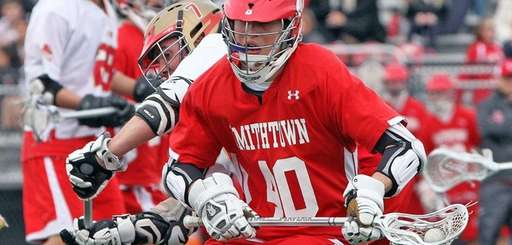 Smithtown East's Brian Willetts keeps control during a