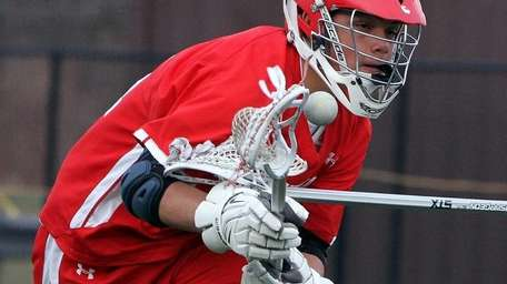Smithtown East's Luke Eschbach gets control of the