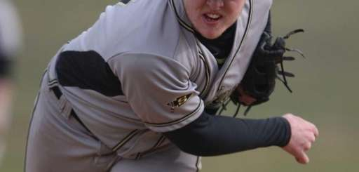 Sachem North's Dennis Buckstein throws a pitch on