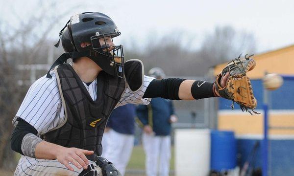 Northport catcher Trevor Fox tries to frame a