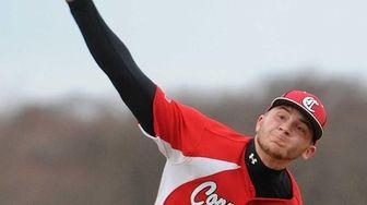 Connetquot pitcher Matt Buckshaw delivers to the plate