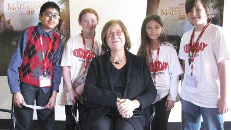 Kidsday reporters Hamza Yousaf, Catlyn Knauer, Zoey Wickman