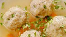 Matzo ball soup is a warm, delicious seder